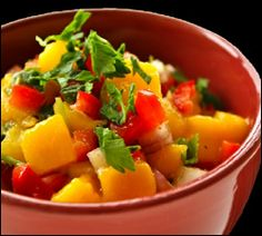 #Mango #Salsa Is A Great Accompaniment To Fish    Oulaie Beach Resort Hotel's Restaurant  Oualie Bay, Nevis