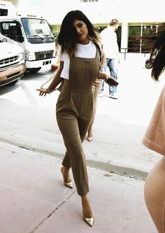 Nikole DeBell Beauty: My Style Inspiration At The Moment: Kylie Jenner. Love the overalls!