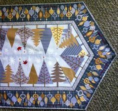 Holiday Sparkle Easy Stripe Table Runner Bundle by Wilmington PrInts Insights at Creative Quilt Kits