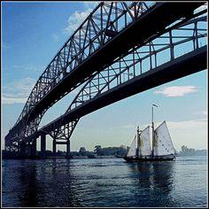 Blue Water Bridge at Port Huron, Michigan