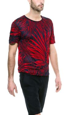 LEAVES PRINT T - SHIRT - T - shirts - Man | ZARA United States