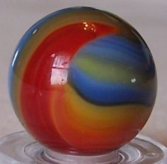 "Beautiful vintage 5/8""+ Akro Agate marble - 10+ colors - rainbow corkscrew"