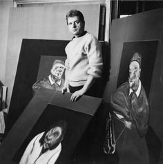 chagalov:  Francis Bacon in his studio, 1960 -by Cecil Beaton   [+] from christie's