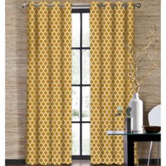 Another great find on Gold Morocco Grommet-Top Window Curtain Panel by Colordrift Drapery Panels, Window Panels, Window Coverings, Drapes Curtains, Window Treatments, Bedroom Curtains, Shower Curtains, Woodland Bedroom, Printed Curtains