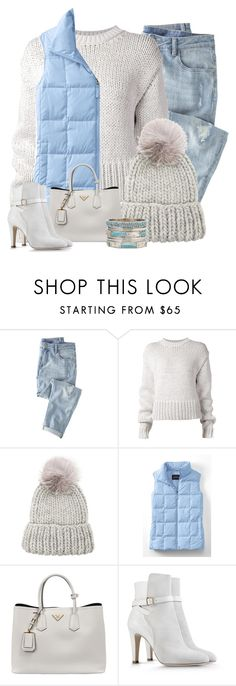 """Beanie"" by terry-tlc ❤ liked on Polyvore featuring Wrap, Acne Studios, Eugenia Kim, Lands' End, Prada, Alberta Ferretti and A.N.A"