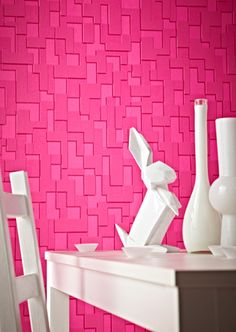 Wallpaper Checker Hot Pink van Superfresco Easy