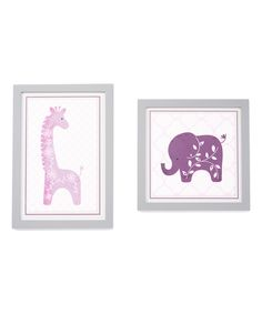 Loving this Lavender Jungle Wall Art Set on #zulily! #zulilyfinds