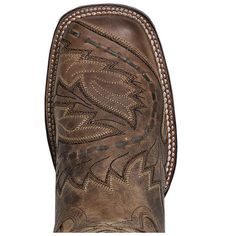 Dan Post Cowboy Certified Womens Tan Leather Sidecar 12in Sq Toe Boots