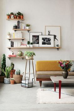 53 Home Decor Shelves To Copy Today – Interior Design Fans – Decorating Ideas Living Room Furniture, Living Room Decor, Living Spaces, Office Furniture, Home Decor Shelves, Wall Shelves, Shelving, Home And Living, Home And Family