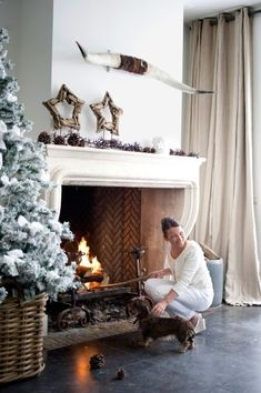 A chic California white Christmas.