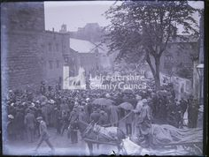 Military Wwi 1914 Troops by the magazine gate Line of soldiers in the rain with rifles/bayonettes moving through crowd in square (alt view) Glass plate negative 1914 Lumbers Negatives Collection, Leicestershire Record Office Soldier In The Rain, Baden Powell, General Hospital, Wwi, Ancestry, Troops, Gate, Military, English