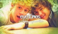 eeeeeyyyyyyeeee tttuunnnneesss! I love eye tunes! Haha loved that live stream