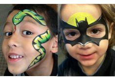 Cute face painting ideas for boys.