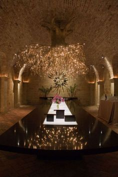 This chandelier in the Wine Cave at Hall Rutherford (napa) is bananas. I must visit this