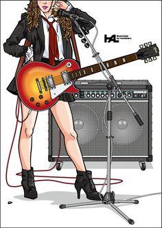 Girls Guitarist / Lespaul