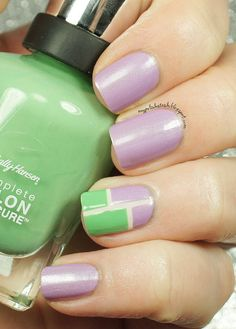 Sally Hansen Designer Collection 2014-Color Block manicure #nailart #swatch