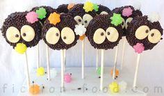 "Food Adventures (in fiction!): Soot Sprite Cookie Pops for ""Spirited Away"" & ""Totoro"""