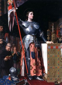 INGRES, Jean-Auguste-Dominique Joan of Arc at the Coronation of Charles VII in Reims Cathedral 1854 Oil on canvas, 240 x 178 cm Musée du Louvre, Paris