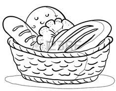 dibujos de canasto con pan - Buscar con Google