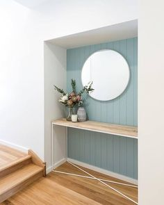 Is Paneling Walls good for Home Improvement? Hamptons Style Decor, Console Styling, Study Nook, Home Reno, Bedroom Wall, Blue Feature Wall Bedroom, Home Improvement, Entryway, Foyer