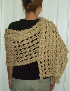 CLOSE OUT and FINAL Sale on this lovely Shawl by IdasBrooklynBarn, $35.00