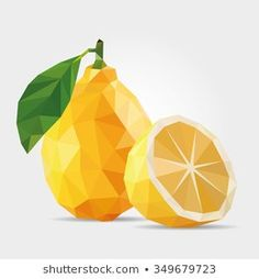 Find Polygonal Lemon Vector stock images in HD and millions of other royalty-free stock photos, illustrations and vectors in the Shutterstock collection. Geometric Painting, Geometric Art, Cool Wallpapers For Computer, Lemon Art, Fruit Icons, Cubism Art, Art Watercolor, Polygon Art, Fruit Art