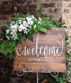 Wedding Welcome Sign Wedding Signs Welcome by HeartandSoulDsigns #BarnWeddingIdeas