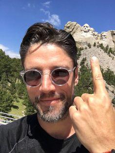James Scott at Mt Rushmore via twitter 6/16
