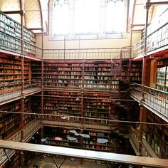 """Imagine reading at this library at the Rijksmuseum Amsterdam.. #rijksmuseum #Amsterdam #museum #library #books #vintage #heritage #antique #reading"""