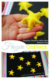 Learning and Exploring Through Play: Frozen Oobleck Sensory Play