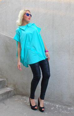 Aqua Blouse, Aqua Cotton Blouse, Cotton Shirt, Aqua Plus Size Blouse TT61 by TEYXO, Gift for Her https://www.etsy.com/listing/239573637/aqua-blouse-aqua-cotton-blouse-cotton?utm_campaign=crowdfire&utm_content=crowdfire&utm_medium=social&utm_source=pinterest