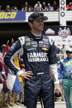 Kasey Kahne is all smiles in Victory Lane at Pocono Raceway on August 4.