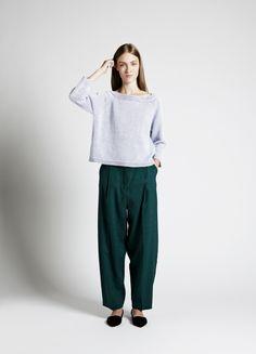 Crepe Sweater and Lebel Trousers | Samuji SS14 Seasonal Collection