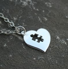 Heart Puzzle Piece Autism Pendant by ICandyCrystals on Etsy, $20.00