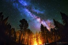 """""""Camping Under the Stars"""" by Knate Myers, via 500px."""
