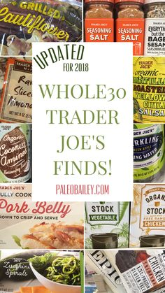 Whole30 Trader Joe's Finds: 2018 Shopping List