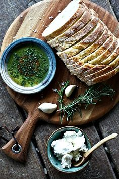 herb + garlic dipping oil for bread
