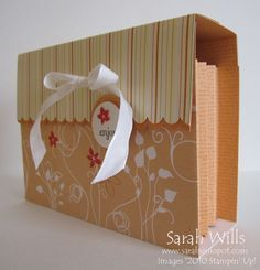 Card box w/ tutorial-for all the cards that didn't sell at the craft show.this yrs Christmas gifts Paper Cards, Folded Cards, Diy Cards, Paper Boxes, Card Boxes, Gift Boxes, 3d Templates, Card Making Techniques, Craft Box