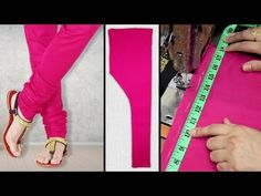 Learn cutting and stitching of Churidar Pajama (pant). This churidar pajama cutting and stitching step by step tutorial is very easy for beginners in Urdu an. Beginner Sewing Patterns, Sewing Tutorials, Sewing Stitches, Churidar Pattern, Lehenga Pattern, Salwar Suit Neck Designs, Sharara Designs, Hand Embroidery Videos, Ribbon Embroidery
