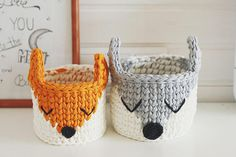 Crochet basket sleepy fox will create atmosphere of a cosiness and magic for your nursery. Sleepy fox is amazing and cheerful Christmas gift for your kid! The basket can become an amazing element of Nursery decor. It will be perfect gift for Woodland theme baby shower. Surely, I will be