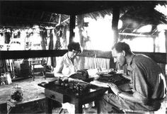 Margaret Mead and Husband Gregory Bateson Papua New Guinea 1938