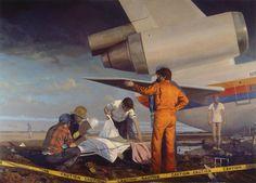 Supersonic Art: Bo Bartlett's Homelands. Artist Bo Bartlett's. American Realism, American Artists, The Bo, Realism Artists, Bo Bartlett, Powerful Art, Art Storage, Mobile Art, Painting Gallery