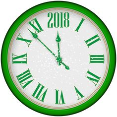 Happy New Year Download, Happy New Year Png, Green Clocks, Tree Clipart, New Year Pictures, Silver Bow, New Image, High Quality Images, Art Images
