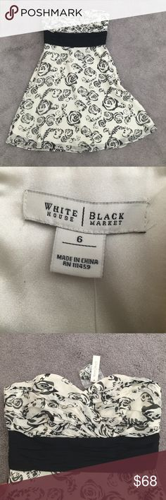Selling this NWT WHBM black and white strapless dress on Poshmark! My username is: melissat28. #shopmycloset #poshmark #fashion #shopping #style #forsale #White House Black Market #Dresses & Skirts