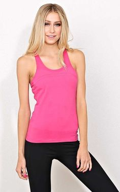#FashionVault #styles for less #Women #Tops - Check this : Pink Gym Motivation Knit Tank - - Pink in Size by Styles For Less for $12.99 USD