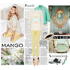 Fashion in Motion with MANGO & Kate Moss, created by deborarosa on Polyvore