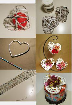 Arts And Crafts Product Kids Crafts, Diy Home Crafts, Craft Projects, Arts And Crafts, Recycled Paper Crafts, Newspaper Crafts, Valentine Day Crafts, Christmas Crafts, Diy Para A Casa