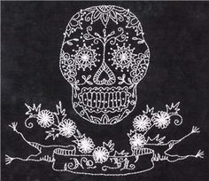 Sugar Skull Embroidery Pattern (338) Embroidery Patterns by Crabapple Hill Studio