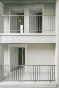 Guardrail - vertical style with space at bottom. Balcony Grill Design, Balcony Railing Design, Staircase Railings, Staircase Design, Stairs, Banisters, Balustrade Balcon, Interesting Buildings, Space Architecture