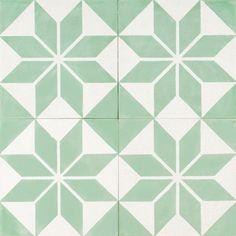 Jade Star Encaustic Tile